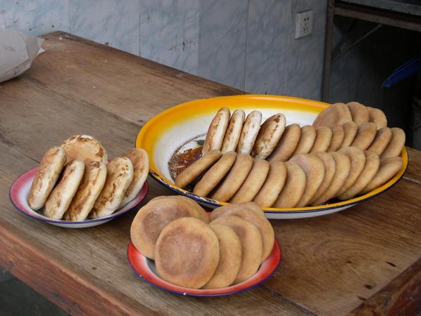 古代制饼手绘